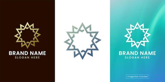 Création de logo abstrait étoile de luxe