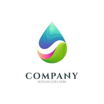 Création de logo abstrait goutte d'eau