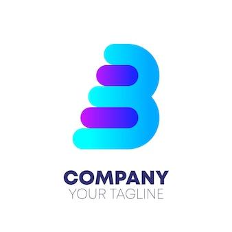 Création de logo abstrait lettre b