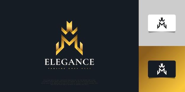 Création de logo abstrait lettre initiale w et m en élégant dégradé d'or. modèle de conception de logo monogramme wm. symbole de l'alphabet graphique pour l'identité d'entreprise