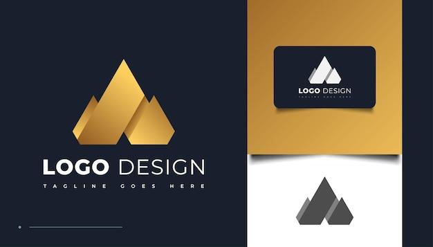 Création de logo abstrait or lettre a dans un style papier