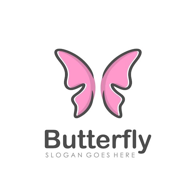 Création de logo abstrait papillon