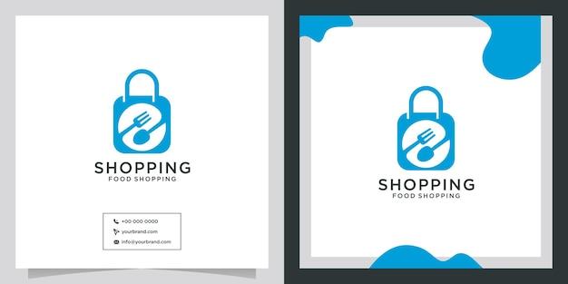 Création de logo d'achat d'outil de cuisine de coutellerie