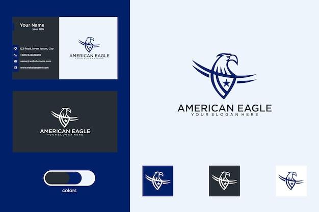 Création de logo aigle américain et carte de visite