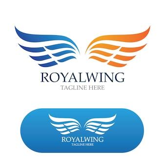 Création de logo d'ailes image vectorielle d'oiseau faucon
