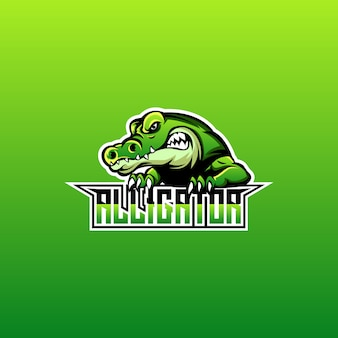 Création de logo d'alligator