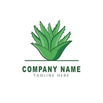 Création de logo d'aloe vera