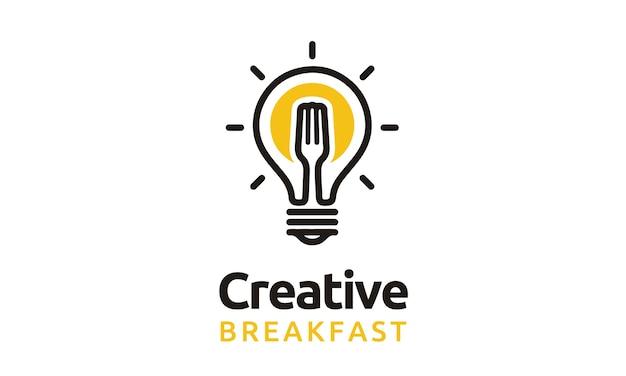 Création de logo d'ampoule et de fourchette