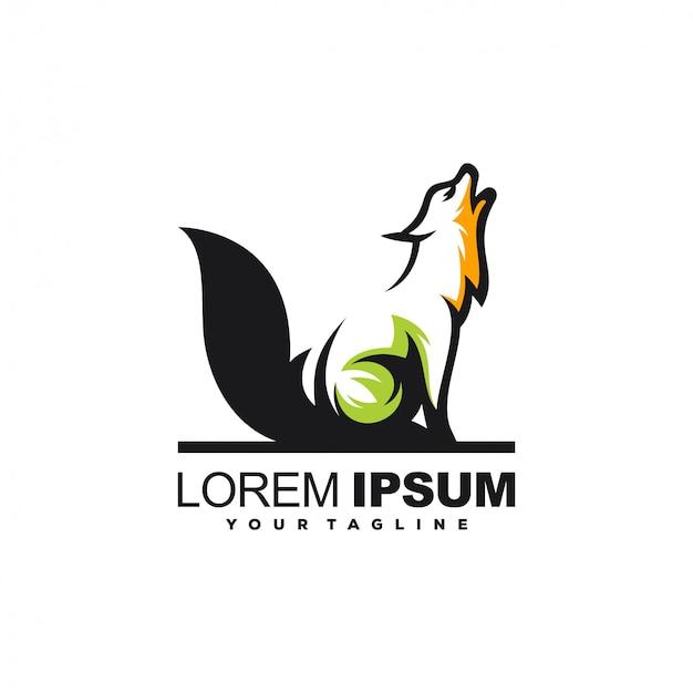 Création de logo animal loup