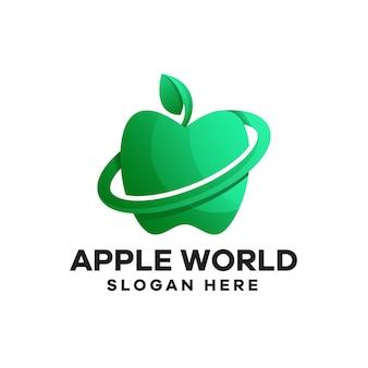 Création de logo apple world gradient