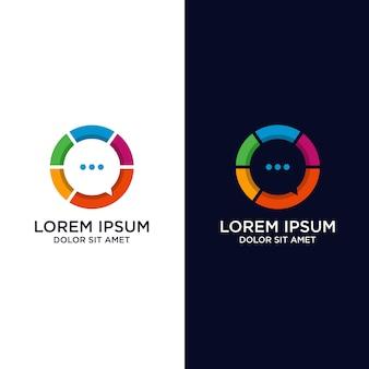 Création de logo d'application de chat coloré