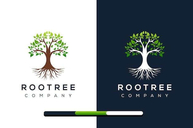 Création de logo d'arbre et de racines