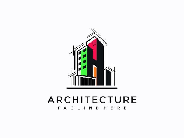 Création de logo d'architecture, de construction, de maison et de propriété
