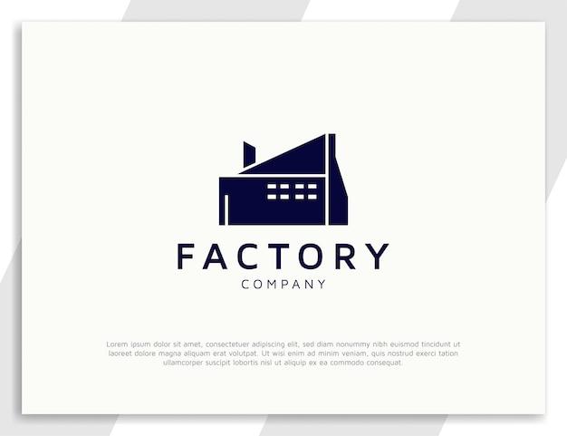 Création de logo d'architecture d'usine de bâtiment industriel moderne
