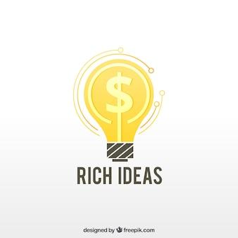 Création de logo d'argent créative