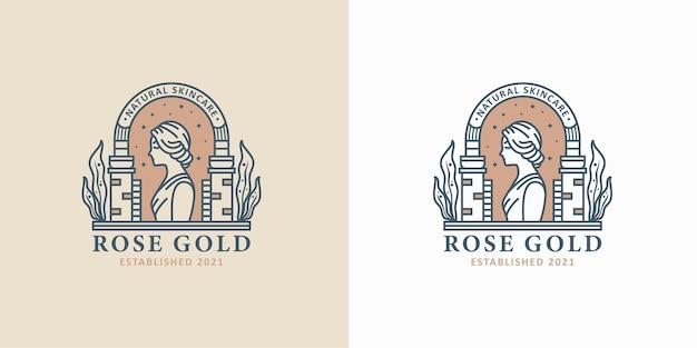 Création de logo d'art en ligne femme beauté vintage