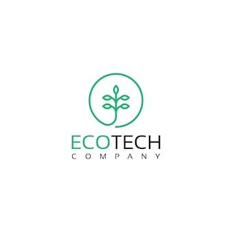 Création de logo d'art en ligne de feuilles de feuilles