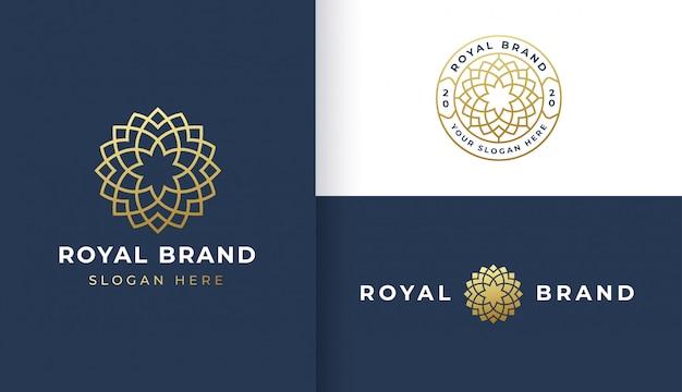 Création de logo art ligne fleur de luxe