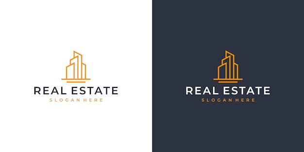 Création de logo art ligne immobilier