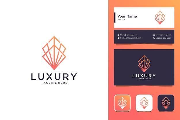 Création de logo d'art de ligne de luxe et carte de visite