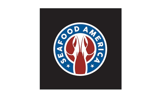 Création de logo autocollant / badge de fruits de mer