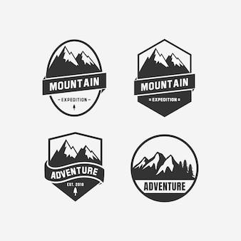 Création de logo d'aventure. icône du design logo montagne
