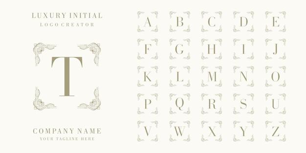 Création de logo de badge initial de luxe premium
