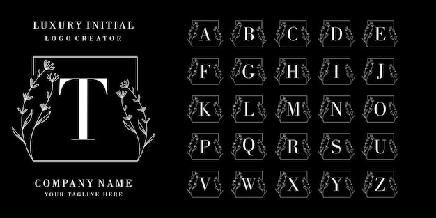 Création de logo de badge initial de luxe