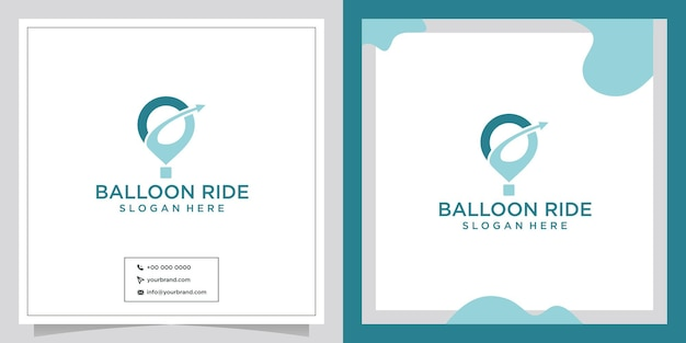 Création de logo de ballon d'affaires de voyage