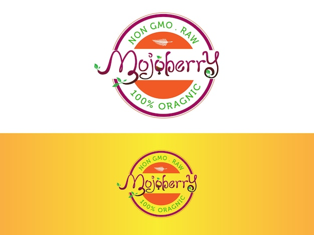 Création de logo de barre de jus organique