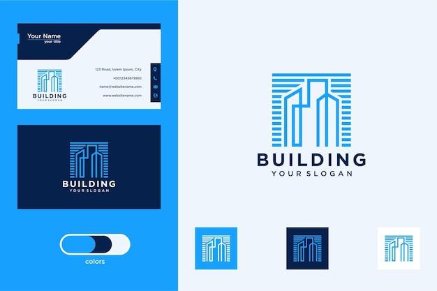 Création de logo de bâtiment et carte de visite