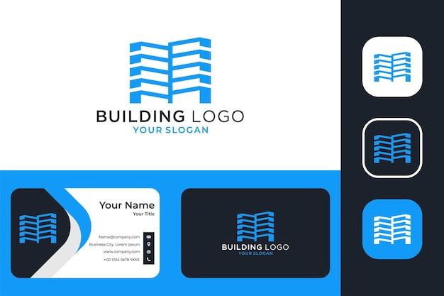 Création de logo de bâtiment moderne et carte de visite