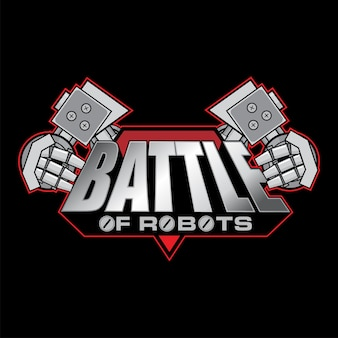 Création de logo battle of robots