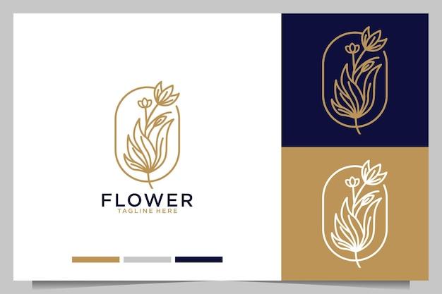 Création de logo de beauté élégante fleur