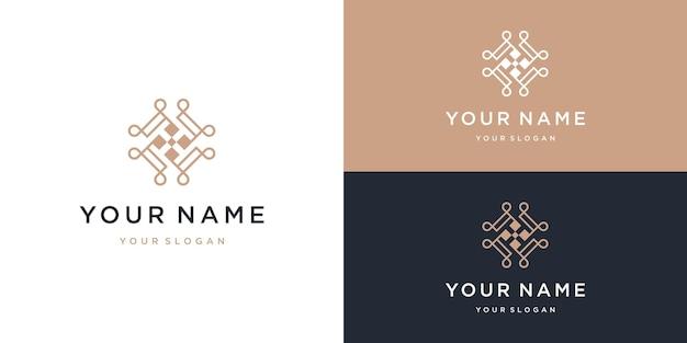Création de logo de beauté ornement lettre t