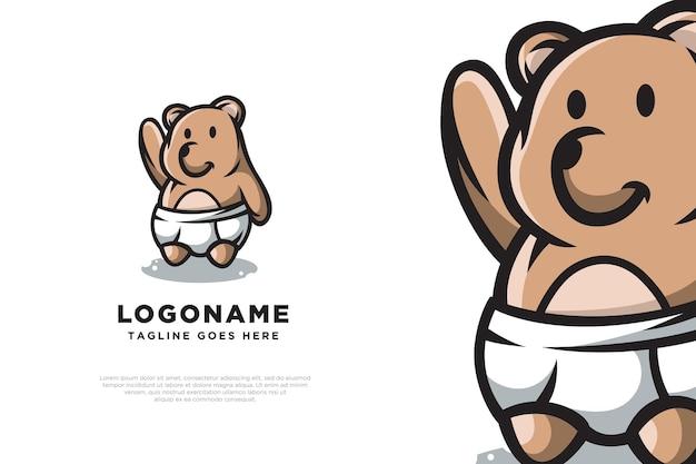 Création de logo bébé ours