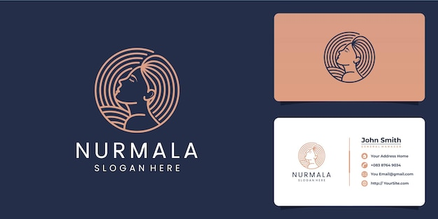 Création de logo de belle femme nurmala