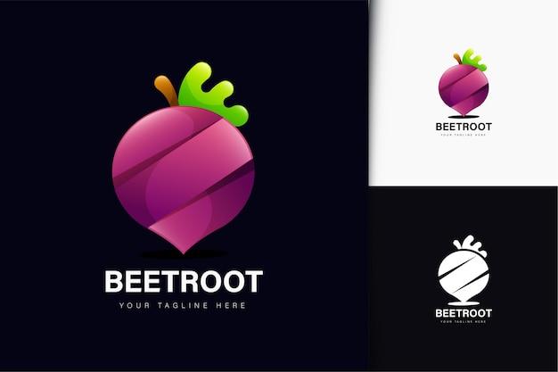 Création de logo de betterave avec dégradé