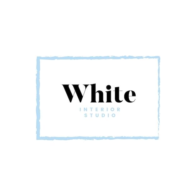 Création de logo blanc studio intérieur