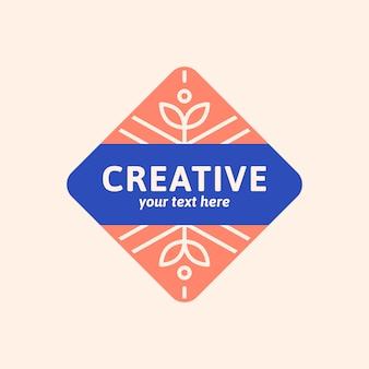 Création de logo bleu
