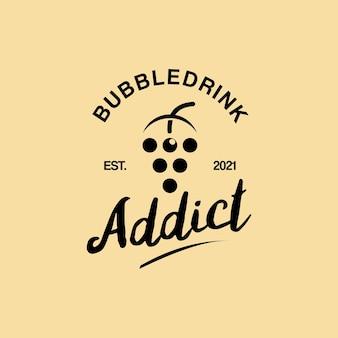 Création de logo de boisson à bulles rétro simple