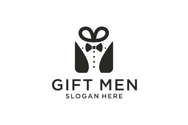 Création de logo de boîte-cadeau pour hommes