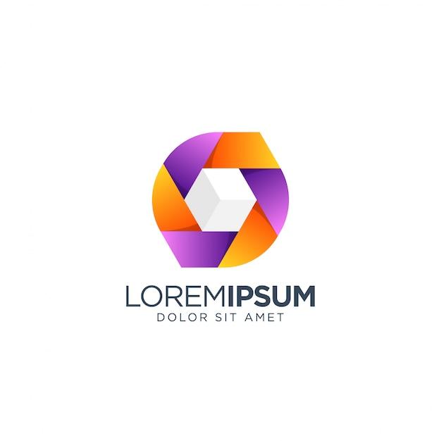 Création de logo de boîte de cube