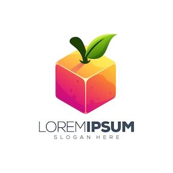 Création de logo de boîte orange