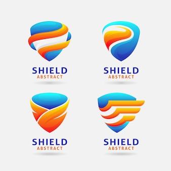 Création de logo de bouclier abstrait