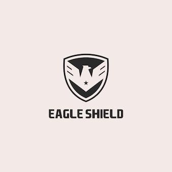 Création de logo de bouclier d'aigle