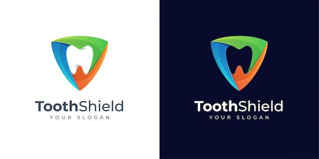 Création de logo de bouclier dentaire