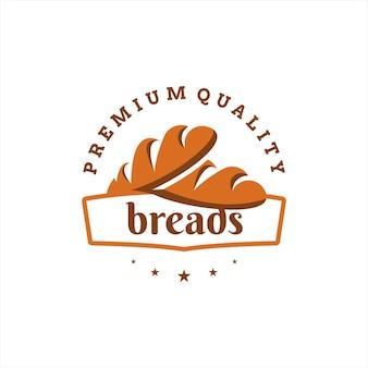 Création de logo de boulangerie vecteur de pain de cuisson