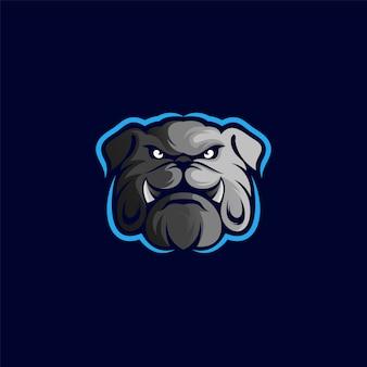 Création de logo de bouledogue