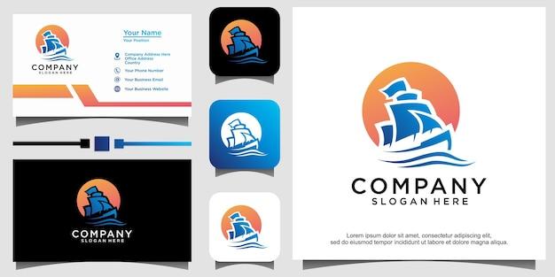 Création de logo de boutre voilier traditionnel